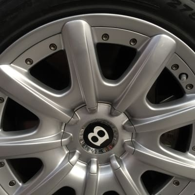 Bentley Wheel Curb Damage Repaired