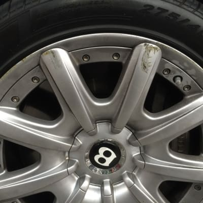 Bentley Wheel Curb Damage