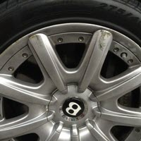 Curb Wheel Damage Jaguar XE Before