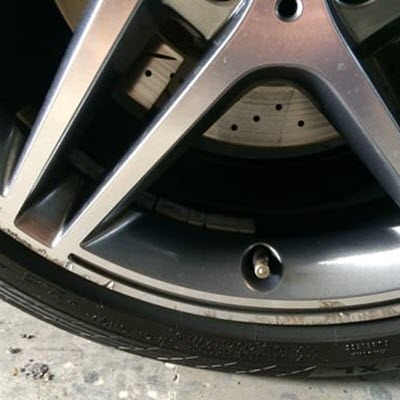 Diamond Cut Wheel Repairs Before