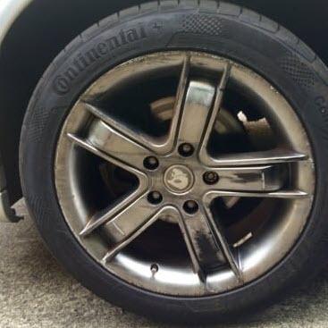 Holden Cruz Wheel Discolouration Repairs Before