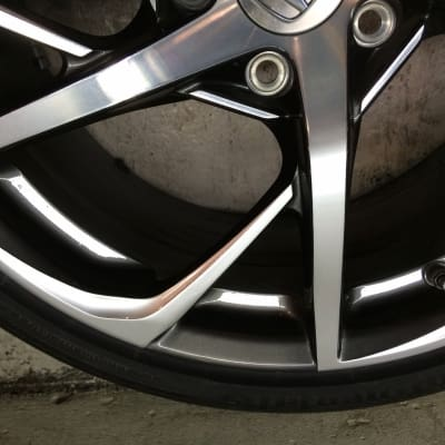 Honda NSX Diamond Cut Alloy Wheel Damage Repaired
