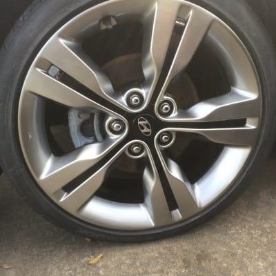 Hyundai Veloster Chrome Alloy Wheel Damage Repaired