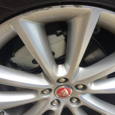 Jaguar Wheel Curb Damage