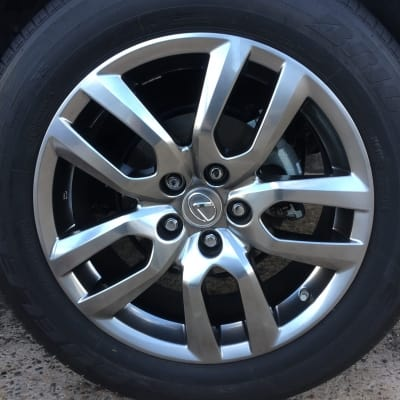 Lexus RX350 Shadow Chrome Wheel Damage Repaired