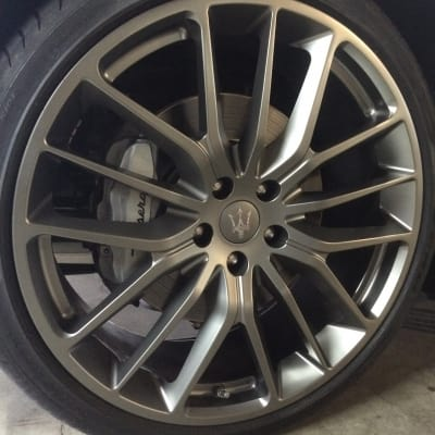 Maserati Ghibli Wheel Curb Damage Repaired