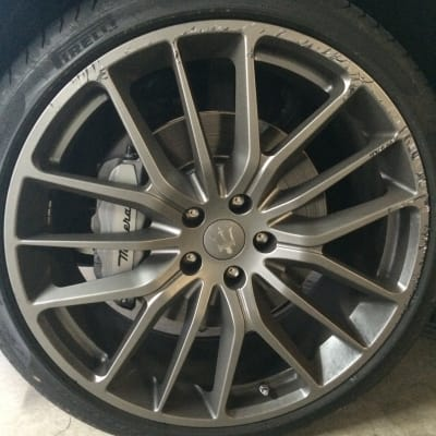 Maserati Ghibli Wheel Curb Damage