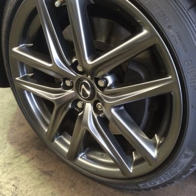 Lexus IS350 Shadow Chrome Wheel Damage Repaired